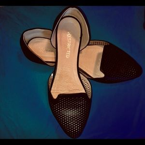 Restricted Perforated Leather Flats